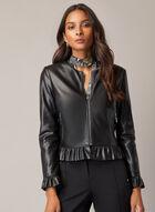 Vegan Leather Jacket, Black