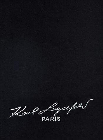 Karl Lagerfeld Paris - Brand Signature Scarf, Black, hi-res,  scarf, designer scarf, Karl Lagerfeld, fall 2019, winter 2019
