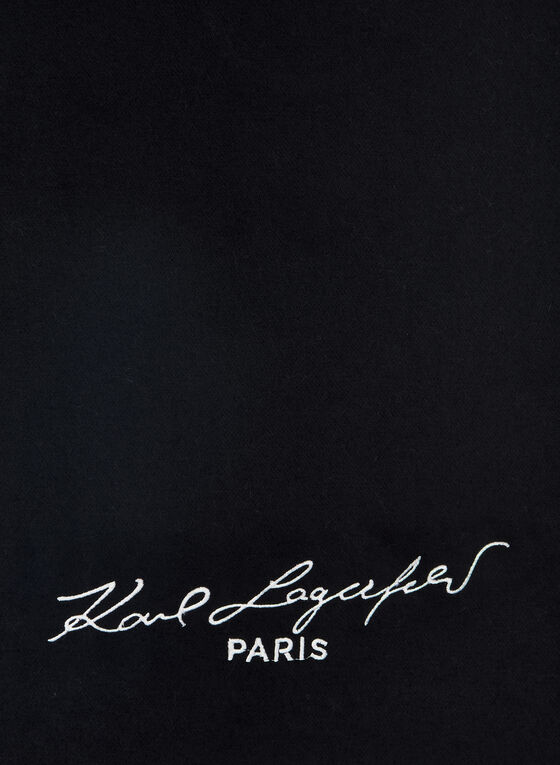 Karl Lagerfeld Paris - Brand Signature Scarf, Black, hi-res