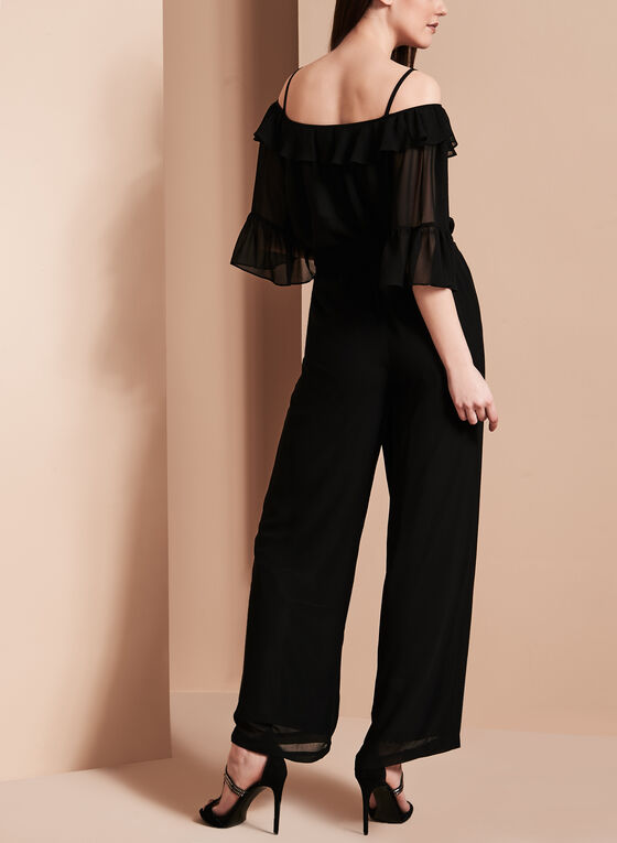 Off The Shoulder Jumpsuit, Black