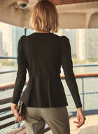 Belted Faux Crossover Top, Black