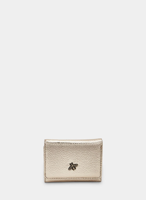 Metallic Wallet, Gold