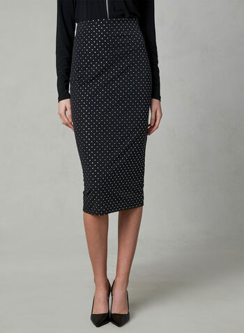 Joseph Ribkoff - Stud Detail Pencil Skirt, Blue, hi-res