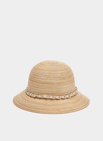 Braided Cloche Hat, Off White, hi-res,  straw, spring 2019, chain