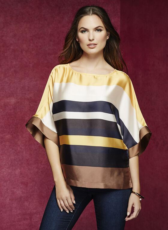 ¾ Sleeve Kimono Blouse, Yellow, hi-res