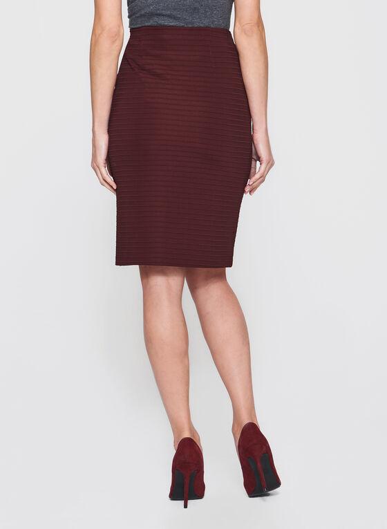 Ottoman Knit Pencil Skirt, Red