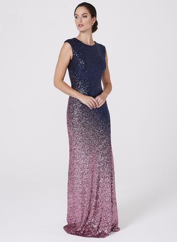 Cachet - Ombré Sequin Dress, , hi-res