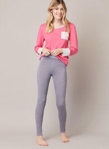 Pantalon pyjama à jambe étroite, Gris,  automne hiver 2020, pyjama