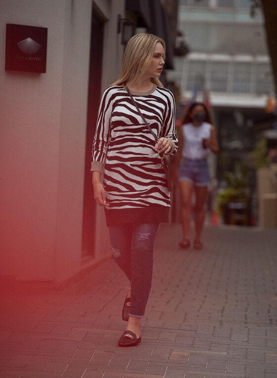 Zebra Print Tunic, Black