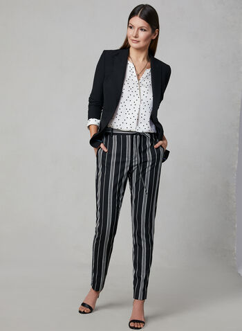 Vince Camuto - Stripe Print Straight Leg Pants, Black, hi-res