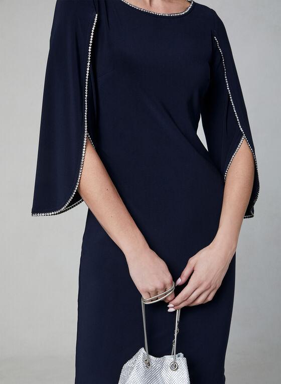 Joseph Ribkoff - Robe fourreau à détails strass, Bleu