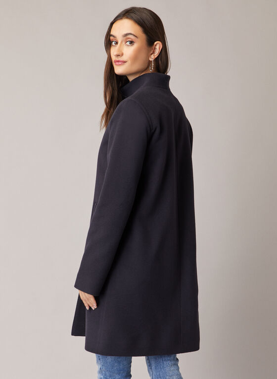 Mallia - Wool & Cashmere Blend Coat, Blue