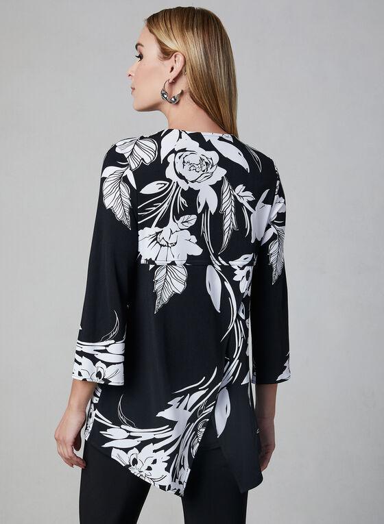 Joseph Ribkoff - Floral Print Jersey Top, Black