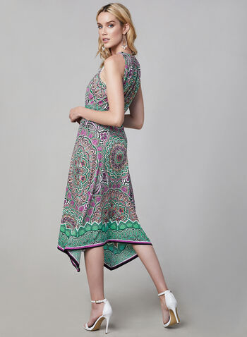 Maggy London - Paisley Print Sleeveless Dress, White, hi-res