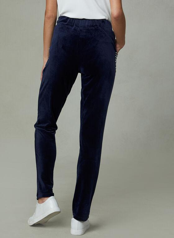 Frank Lyman - Slim Leg Velvet Joggers, Blue, hi-res