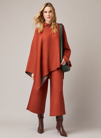 Pull On Wide Leg Pants, Brown,  pants, pull-on, knit, wide leg, short, fall winter 2020