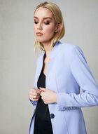 Notch Collar Redingote Jacket, Blue, hi-res