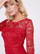 Jax - Illusion Lace Sheath Dress, Red, hi-res