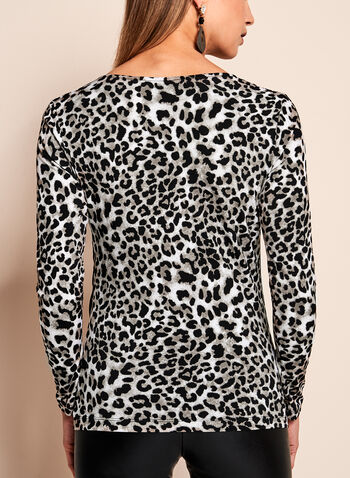 Leopard Print Long Sleeve Top, , hi-res