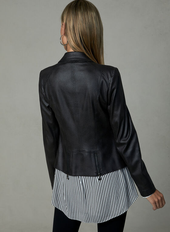 Vex - Faux Leather Jacket, Black, hi-res