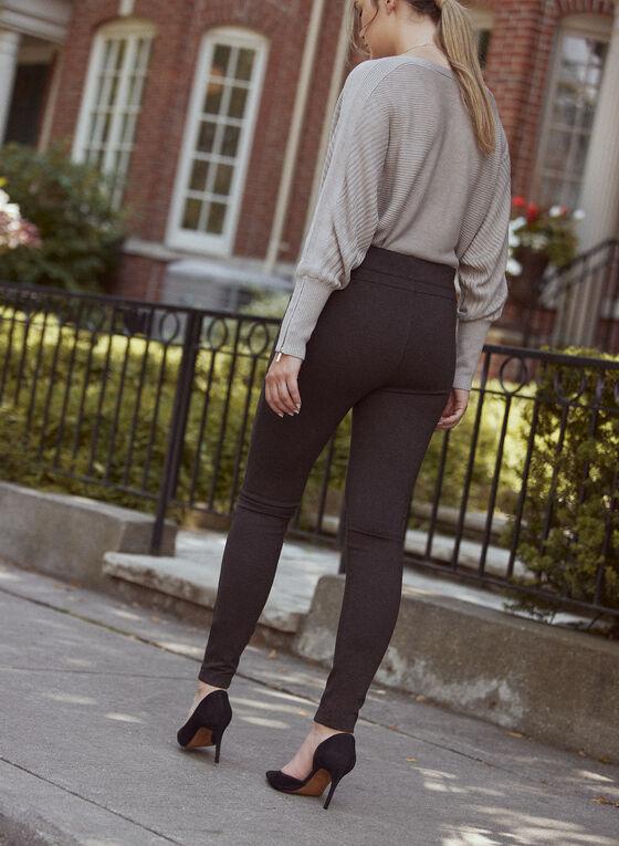 Kayla Pull-On Pants, Grey