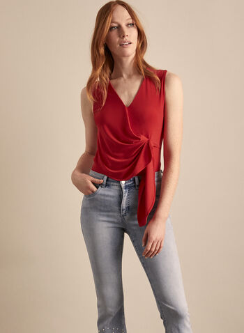 Sleeveless V-Neck Top, Red,  canada, Joseph Ribkoff, top, sleeveless, v-neck, spring top, spring 2020, summer 2020