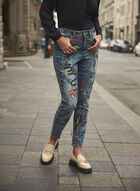 Joseph Ribkoff - Graffiti Print Jeans, Blue