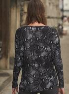 Snakeskin Print Sweater, Black