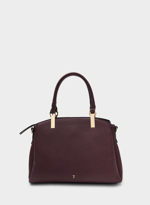 Sac cartable en similicuir , Rouge