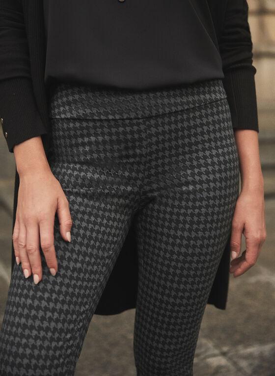 Houndstooth Print Madison Pants, Grey