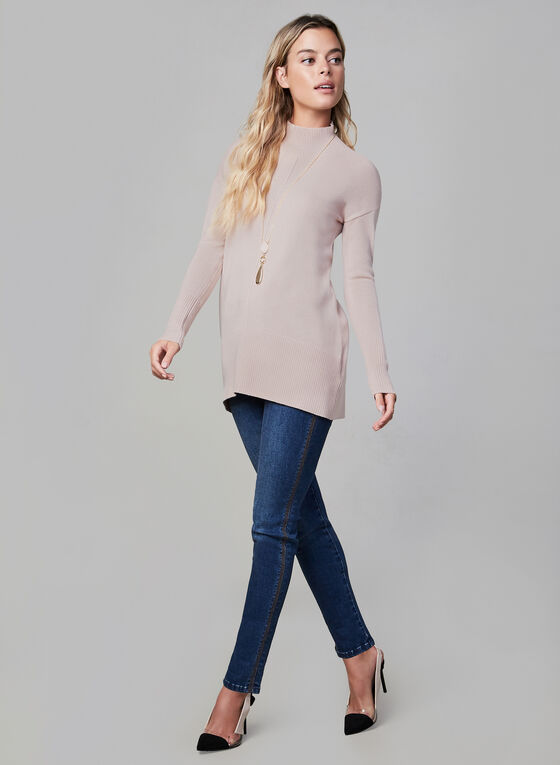 Turtleneck Knit Sweater, Pink