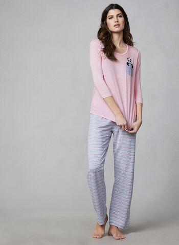 Pillow Talk - Two-Piece Pyjama Set, Pink,  Pillow Talk, pyjamas, sleepwear, stripes, fall 2019, winter 2019