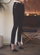 Pull-On Slim Leg Pants, Black