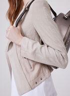 Vex – Herringbone Trim Cropped Jacket, Off White, hi-res