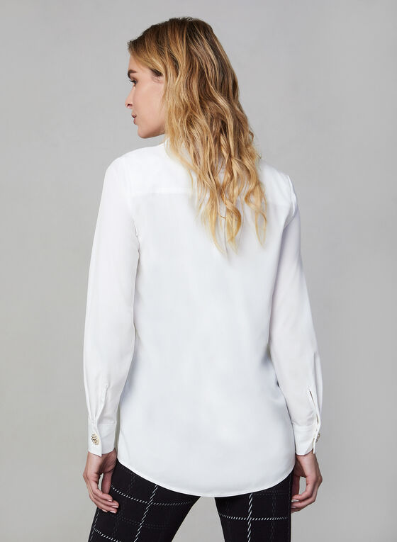 Long Sleeve Blouse, Off White
