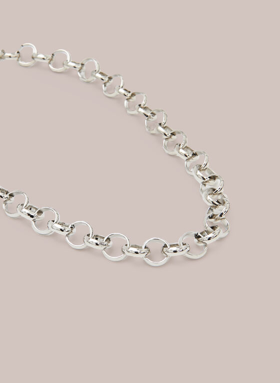 Short Chain Necklace, Silver