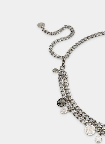 Thin Chain Belt, Silver, hi-res,  belt, chain belt, metallic, pendant, fall 2019, winter 2019