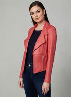 Vex - Faux Suede Open Front Jacket, Orange, hi-res