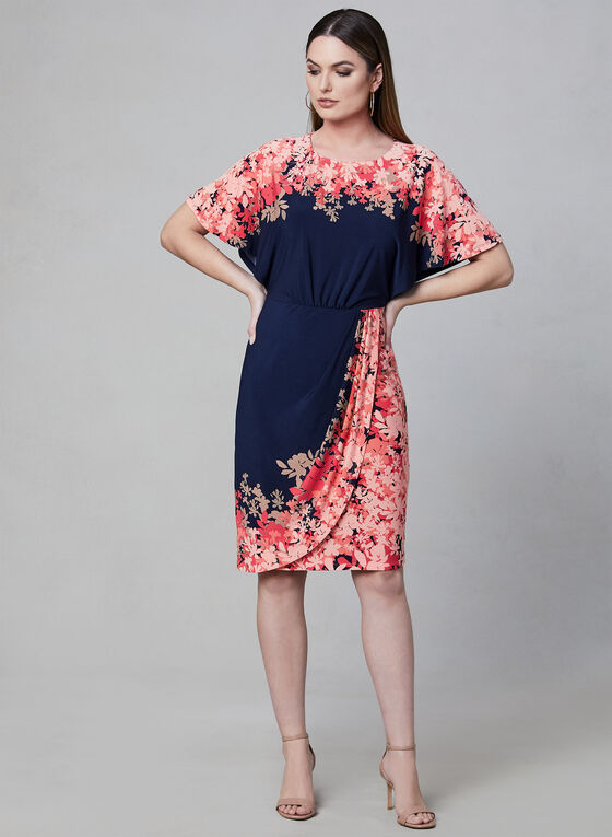 Maggy London - Floral Print Dress, Blue
