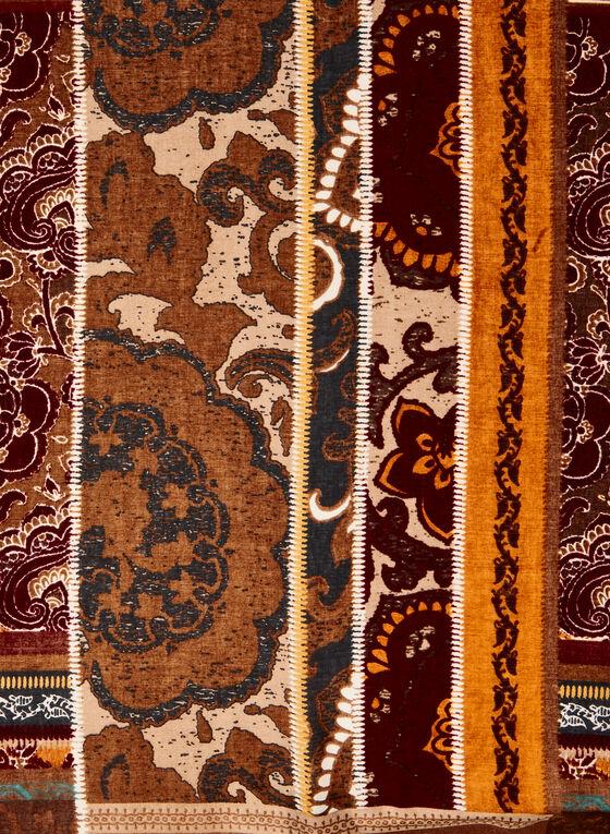 Foulard à motifs paisley et floral , Brun