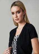 Open Front Knit Bolero, Black, hi-res