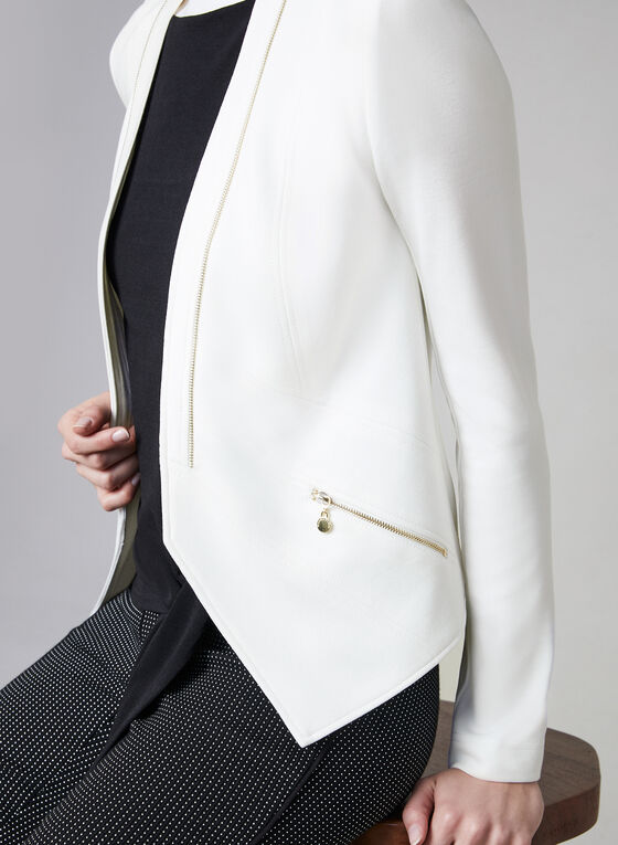 Vex - Zipper Trim Jacket, Off White, hi-res
