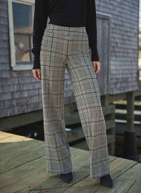 Prince of Wales Print Pants, Black