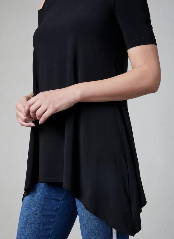 Cold Shoulder Top, Black