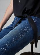 Frank Lyman - Jeans étroit à cristaux, Bleu, hi-res