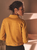 Stretchy Denim Jacket, Yellow