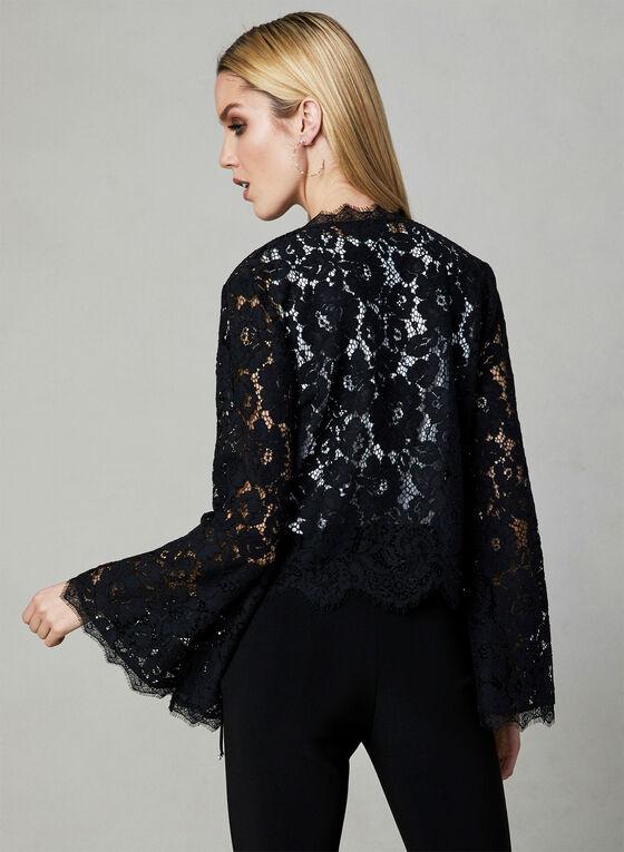 Joseph Ribkoff - Lace Bell Sleeve Bolero, Black, hi-res