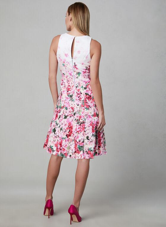 Maggy London - Robe sans manches à fleurs, Blanc, hi-res