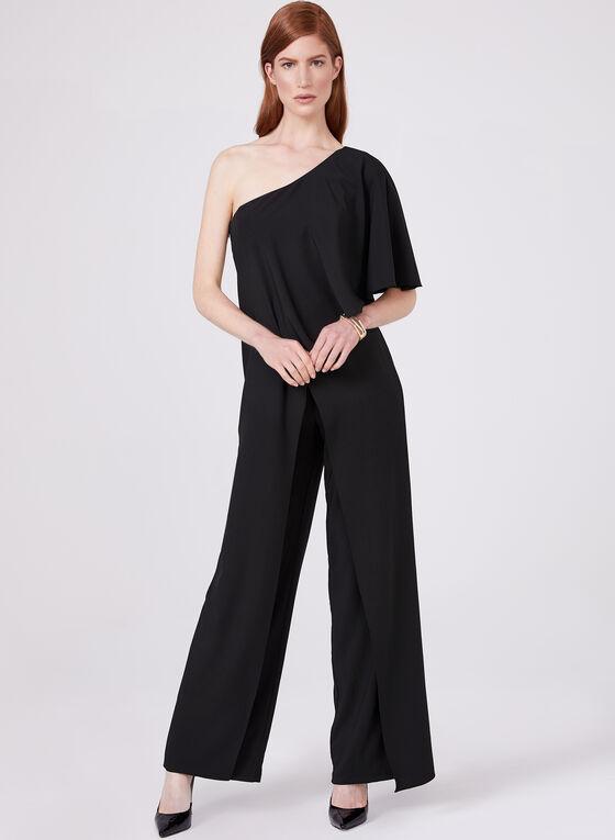 Marina - Combinaison à épaule dénudée et jambe large, Noir, hi-res