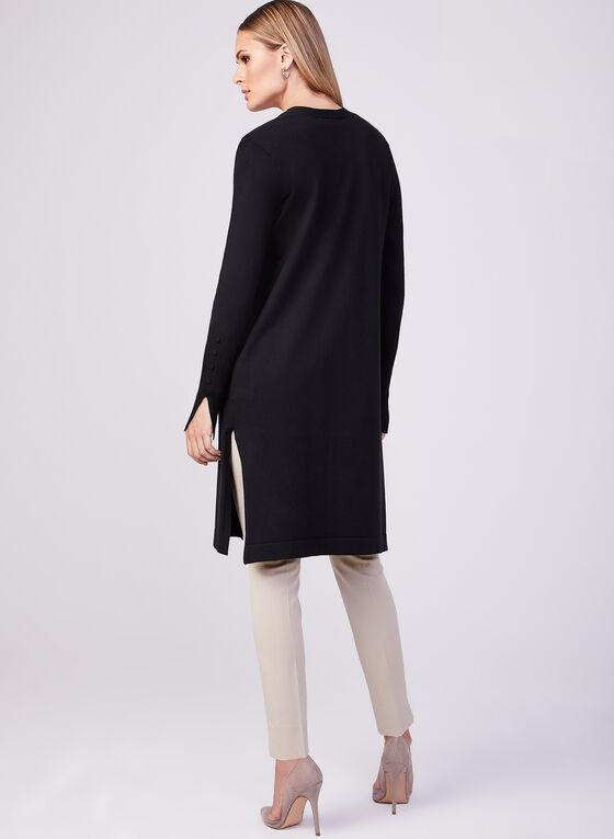 Long Sleeve Knit Duster, Black, hi-res